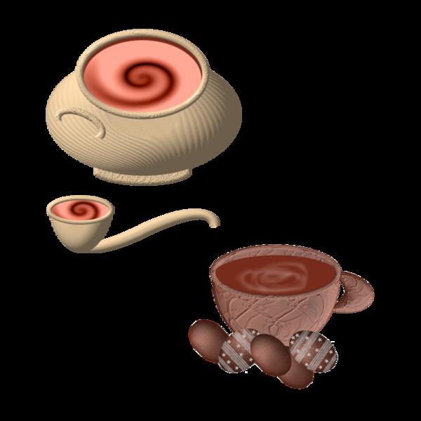 SOUPIERE TASSE CHOCOLAT